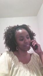 me on phone talking