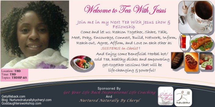 First Tea with Jesus Event Flyer