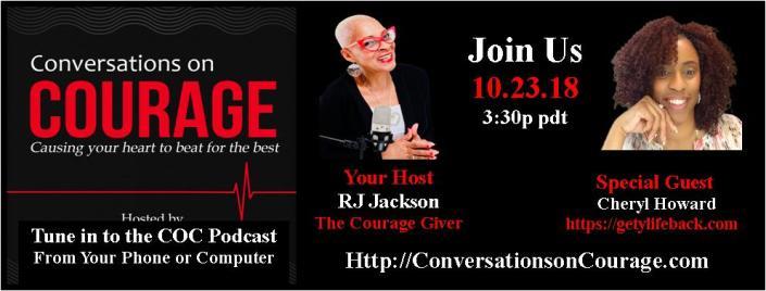 Cheryl H Conversations on Courage Guest Flyer Oct 23 2018 RJ Jackson